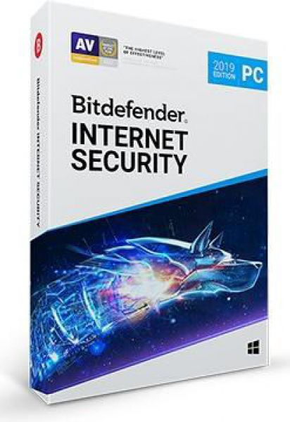 Bitdefender Internet Security 2019, 3 PC, 1 an, Licenta noua, BOX/Retail