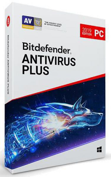 Bitdefender Antivirus Plus 2019, 1 PC, 1 an, Licenta noua, BOX/Retail